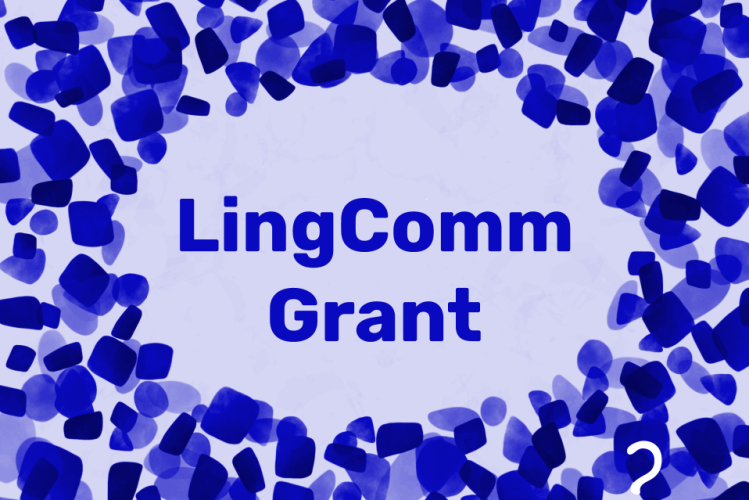 Text LingComm Resources in blue surrounded by blue confetti and a small white Lingthusiasm logo in the bottom right corner